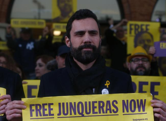 Catalan parliament speaker Roger Torrent spoke to The National