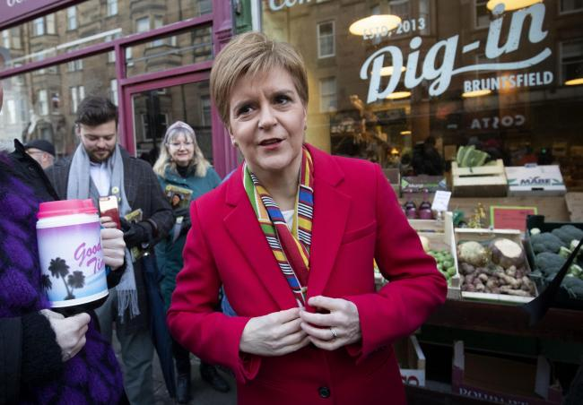 The First Minister underlined her ambitions for a second referendum as she campaigned in Edinburgh South