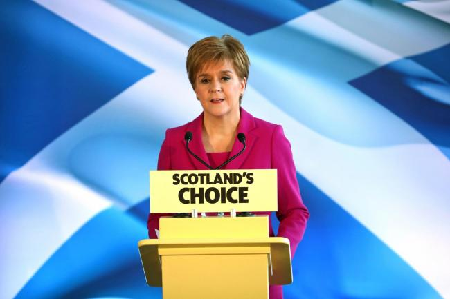 Nicola Sturgeon said the use of food banks was directly linked to welfare cuts made by the UK Government
