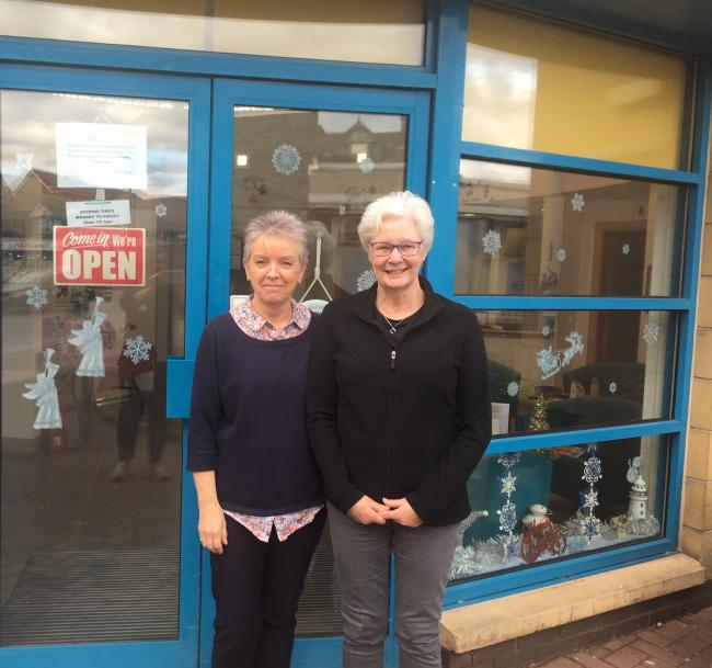 Terry Paterson, left, and Nancy Barr are on the board of the Larkhall Lighthouse, they have plans to develop a community garden on the waste ground behind their building