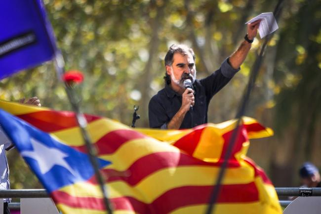 The letter references Omnium Cultural's Jordi Cuixart, who will spend nine years in prison