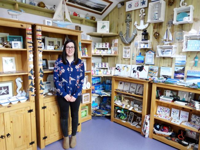 Eilidh Carr was named entrepreneur of the year after setting up Coralbox gift shop on Berneray, North Uist