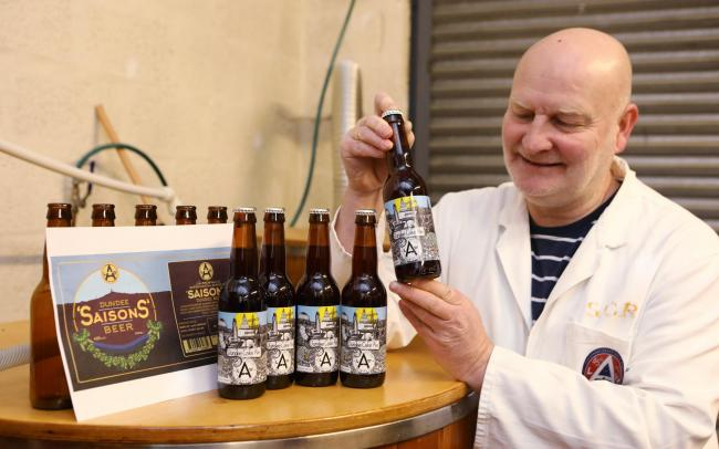 Danny Cullen made 700 bottles of the ale before Christmas