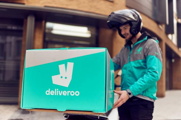 The National: A Deliveroo rider