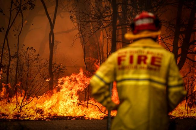 Volunteer fire fighters are tackling the Australian wildfires unpaid as their prime minister refuses to tackle the climate crisis
