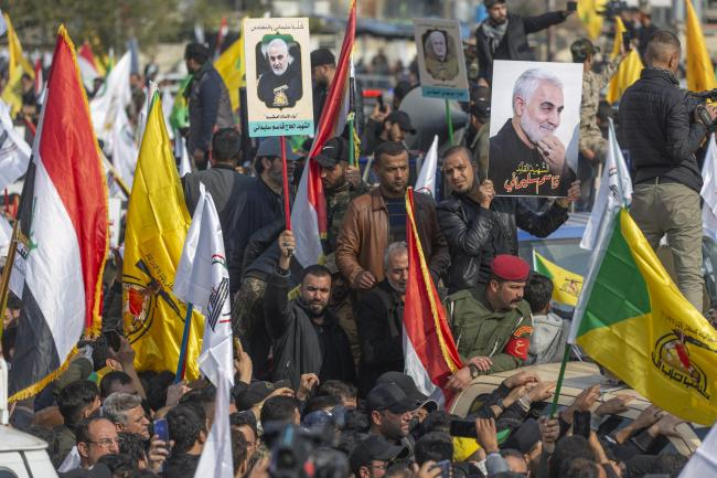 Qasem Soleimani's funeral procession drew tens of thousands into the streets