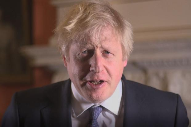 The National: Boris Johnson New Year's message
