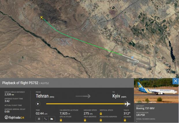 The National: Flight tracking information from Flightradar24 and Google shows where the plane lost communication