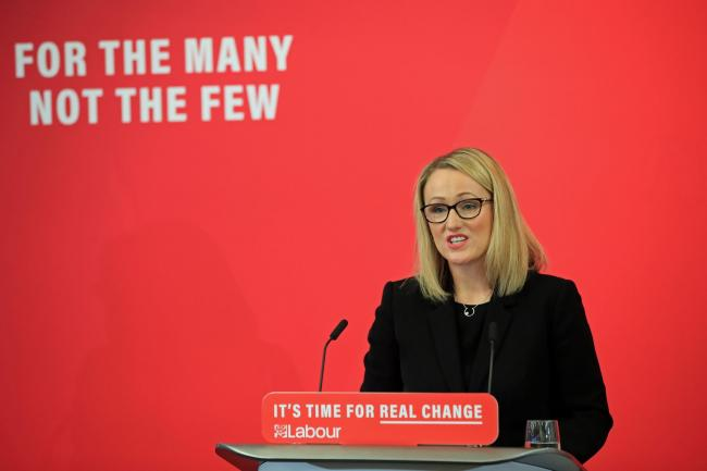 Rebecca Long-Bailey said she would be unveiling a radical package of constitutional measures if she won the contest