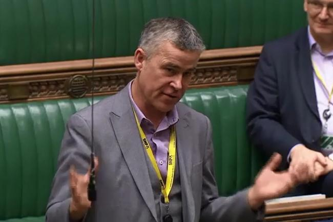SNP MP for Kilmarnock and Loudoun Alan Brown spoke out during a Commons debate on the Brexit Bill