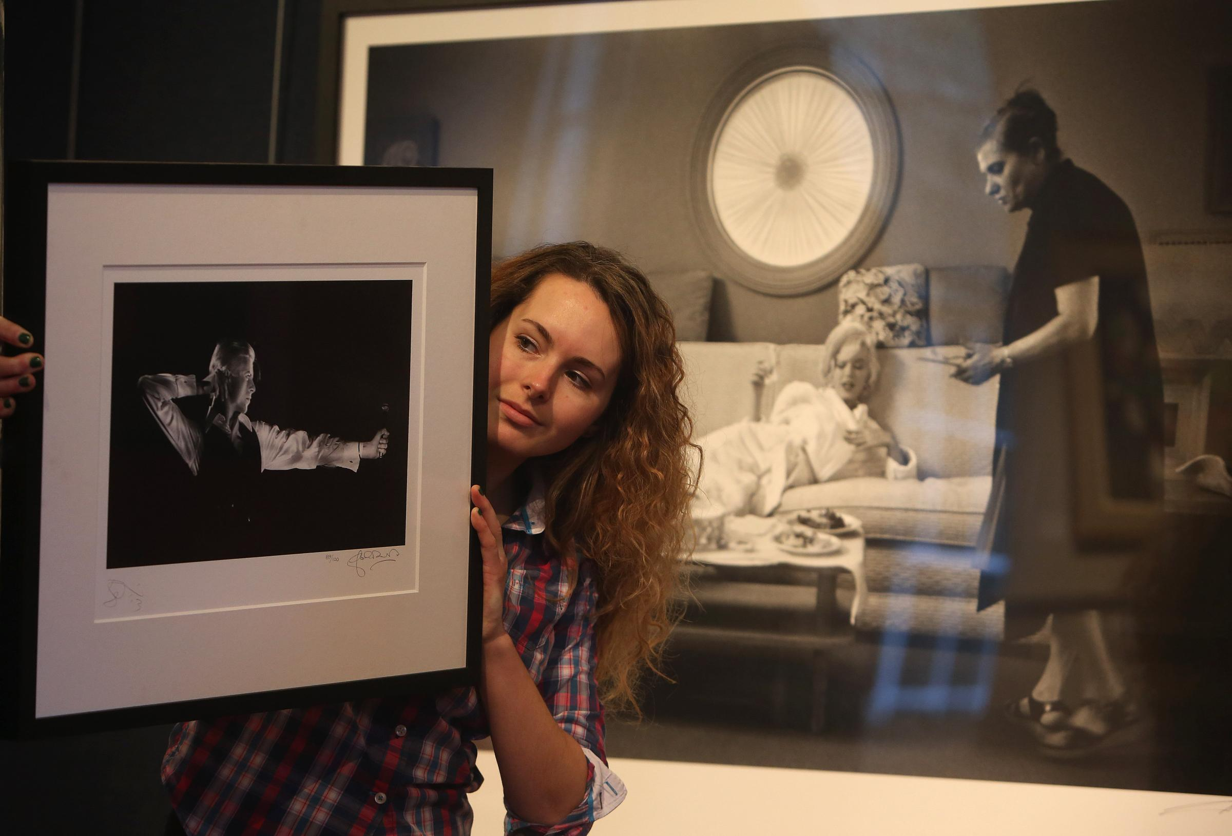 Photographs of Bowie and Munroe go under the hammer in Edinburgh