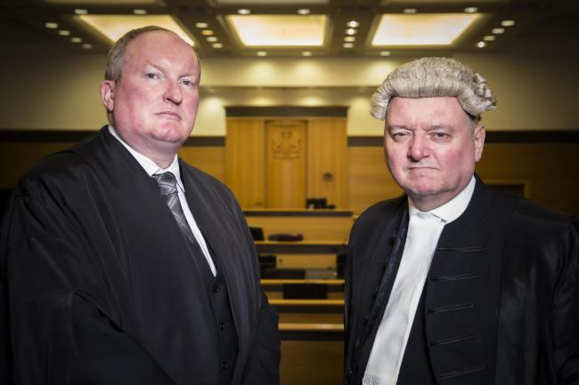Iain McSporran QC, High Court of Scotland Prosecutor (left) and Thomas Ross QC, Defence Counsel for Edward Cairney, from Murder Trial