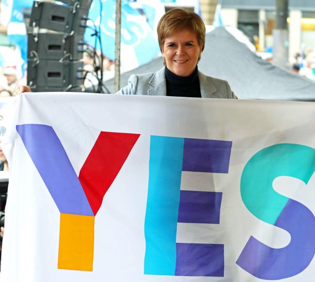 Nicola Sturgeon spoke at The National's indy rally last year