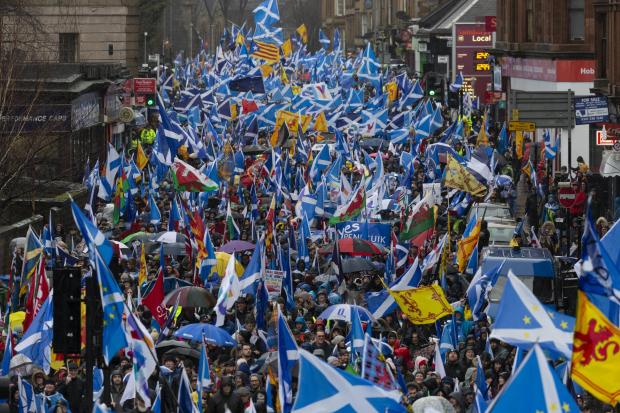 Provisional plans made for huge independence march in Glasgow
