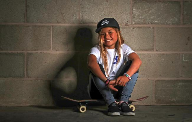 11-year-old Sky Brown will represent Great Britain in skateboarding