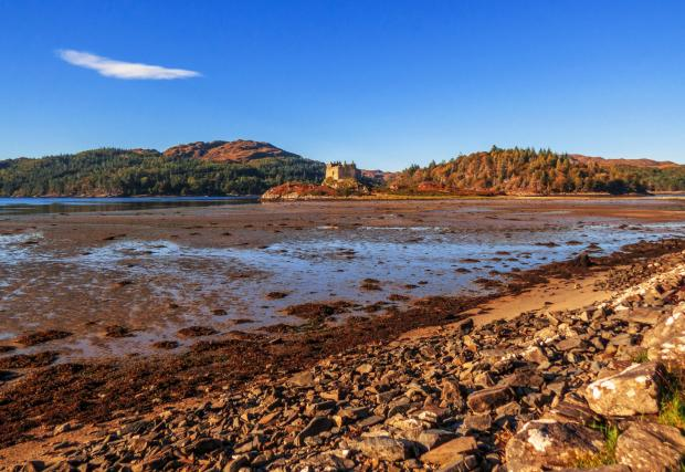 The National: Castle Tioram, a ruined castle on the tidal island of Eilean Tioram in Loch Moidart, Lochaber