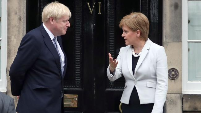 Nicola Sturgeon has issued a defiant response to Boris Johnson