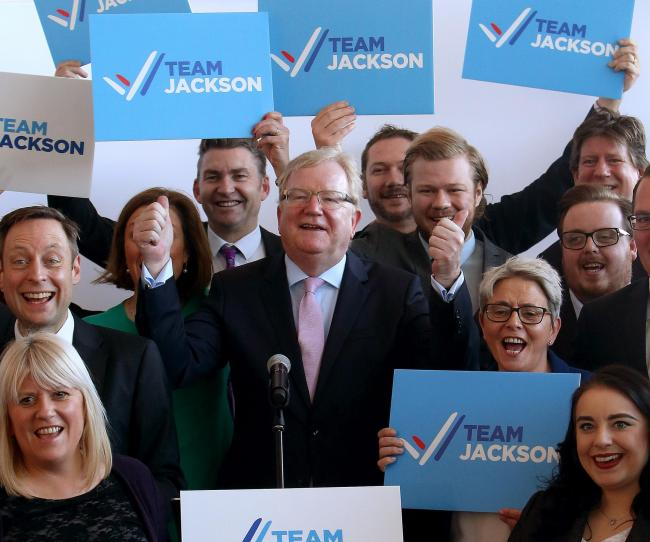 Jackson Carlaw launched his leadership bid with a speech to party activists, MSPs and councillors. Photograph: Gordon Terris