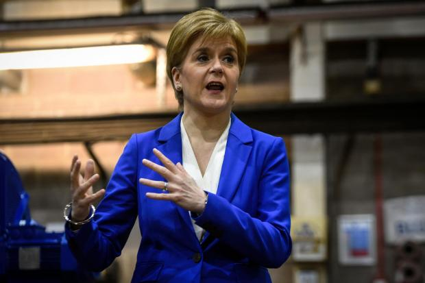 The National: Nicola Sturgeon says Jackson Carlaw is her favoured candidate after the Scottish Tories lost half their MPs under his stewardship