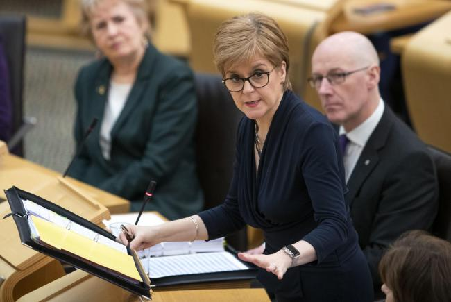Nicola Sturgeon says the Tories are 'running scared' of a second independence referendum