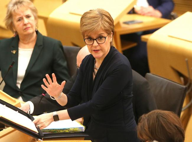 Nicola Sturgeon is included in the 'shattered Remains' section