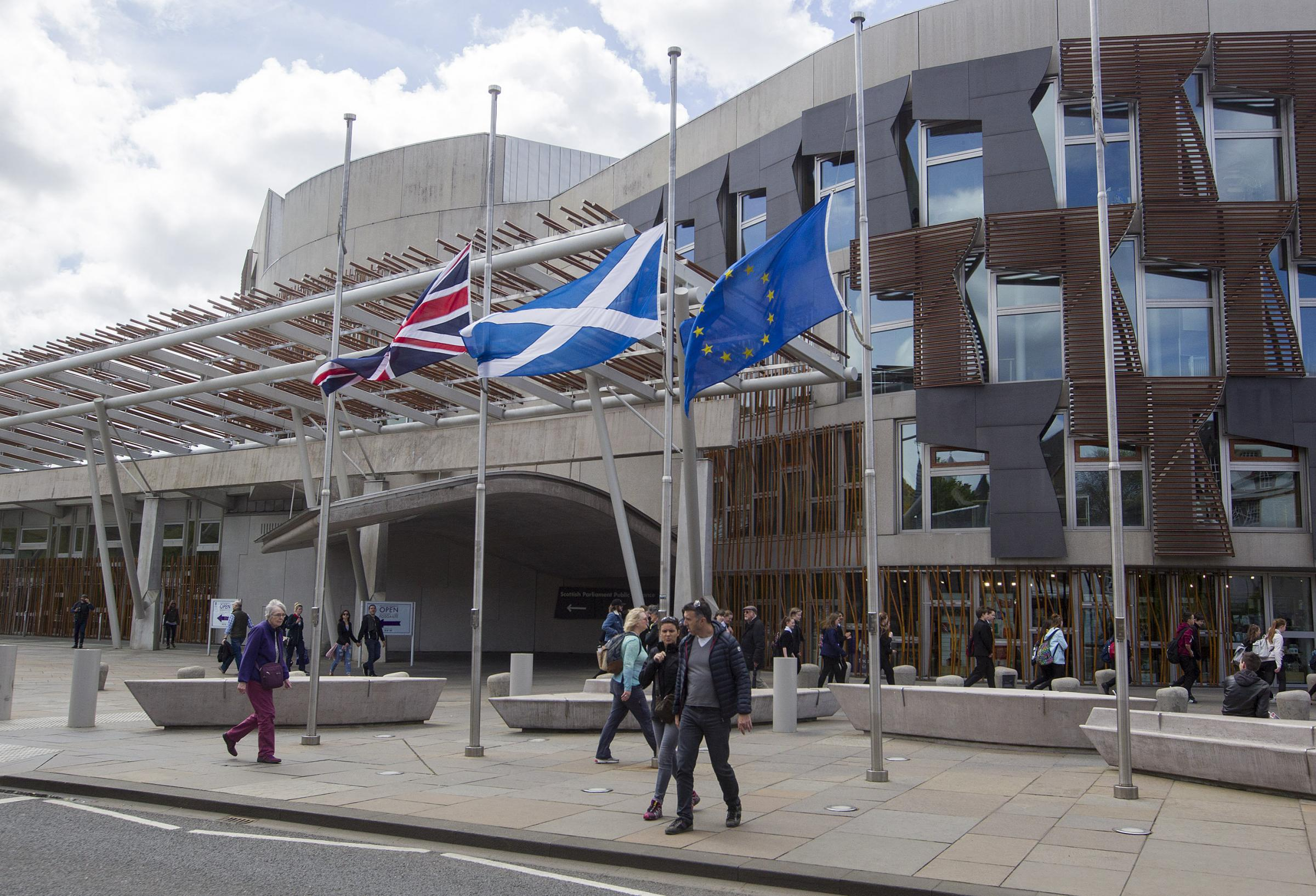Scottish Government moves to stop EU flag being taken down at Holyrood