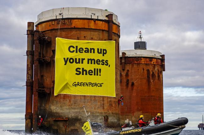 Greenpeace has also been involved in protests against Shell