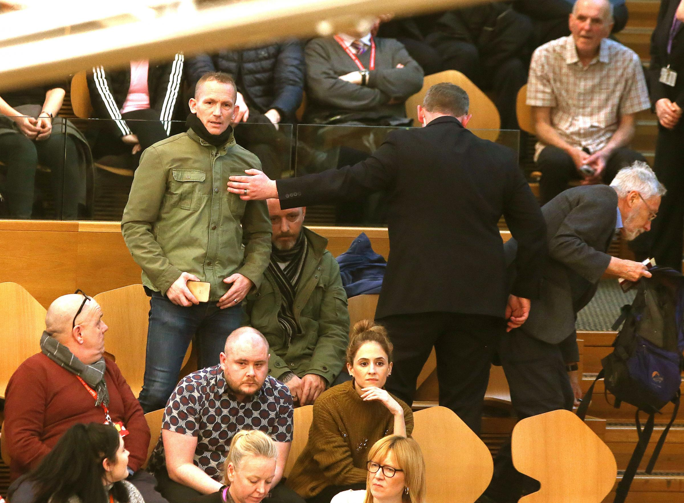 FMQs: Hecklers removed from Holyrood chamber linking SNP to IRA