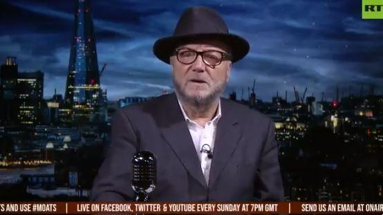 George Galloway hosts the Mother of all Talkshows programme on Russia Today