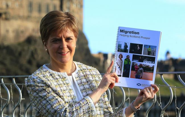 First Minister Nicola Sturgeon revealed the 94-page report yesterday morning