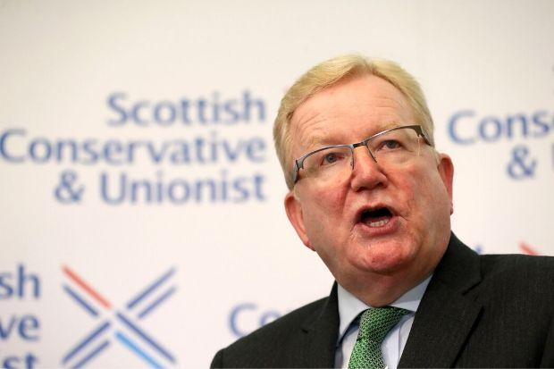 Scottish Tory leader Jackson Carlaw failed to commend the policy