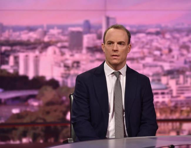 Foreign Secretary Dominic Raab claimed the proposals are 'unworkable'