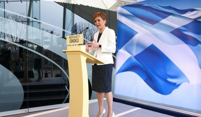 Nicola Sturgeon has not ruled out a wildcat referendum