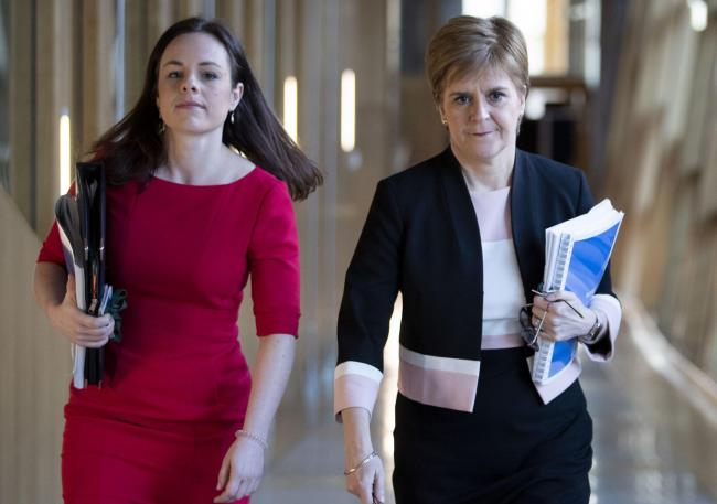 Kate Forbes alongside Nicola Sturgeon as she stepped up to take over in delivering the Scottish Budget
