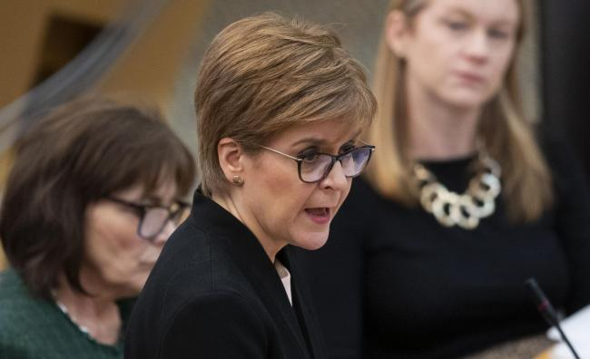 Nicola Sturgeon said she had been unaware of the allegations until she saw the story on Wednesday night
