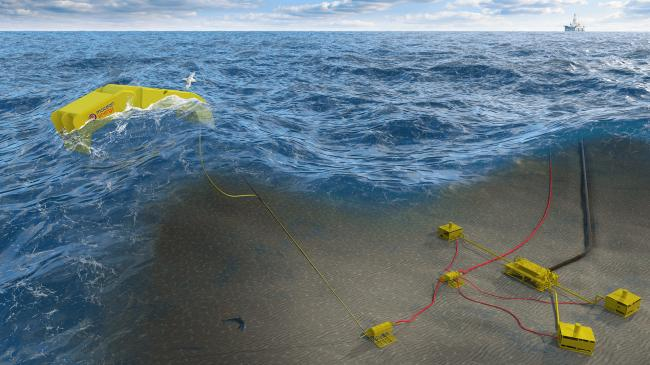 The project will look to use Mocean's Blue Star wave energy converter and EC-OG's HALO energy storage system to power subsea tiebacks and AUVs