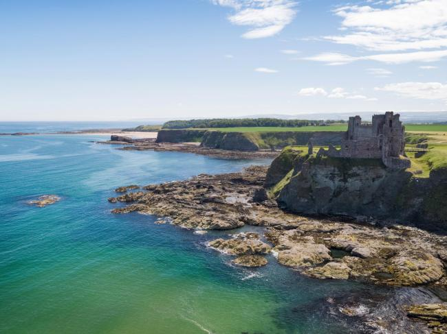 Tantallon Castle is among the historical sites at risk from the climate crisis