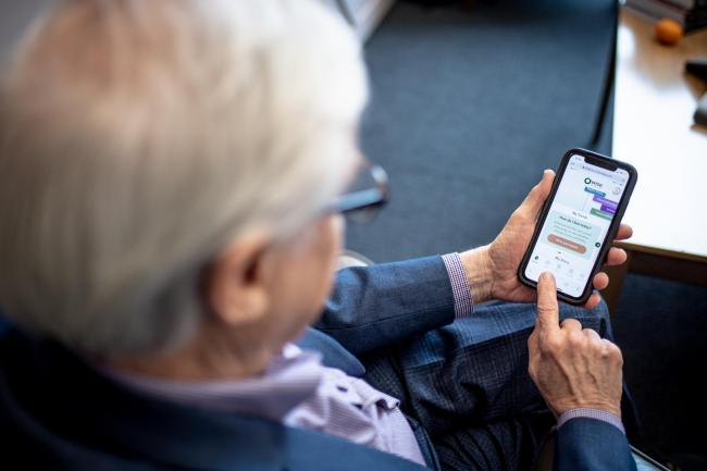 The OWise app, which is being trialled by NHS Lothian, allows patients to log side effects of their cancer treatment