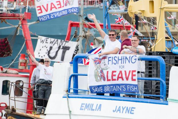 The National: The Brexit flotilla went down the Thames in 2016