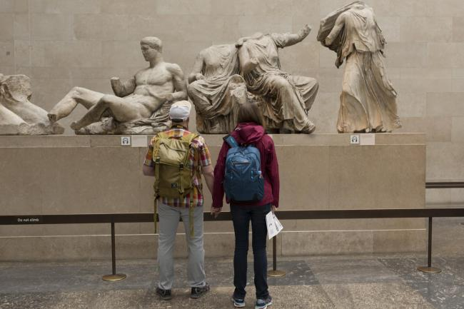 Visitors can admire the sculpture of the ancient Greek Parthenon's Elgin Marbles in the British Museum but Brexit may change that altogether