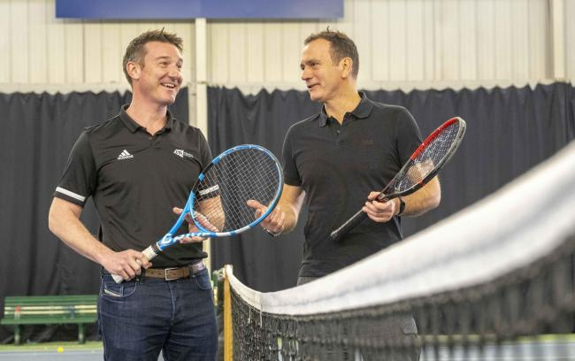 LTA chief executive Scott Lloyd and Tennis Scotland chief Blane Dodds