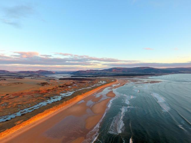 An American businessman planned to build a golf course on sensitive Scottish sand dunes