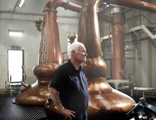 Duncan McNicoll retired from the distillery in January after 43 years