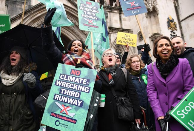 Campaigners hailed the court's ruling on Heathrow's third runway as a victory