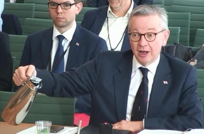 Michael Gove prompted disbelieving laughter as he was questioned by the Committee on the Future Relationship with the European Union