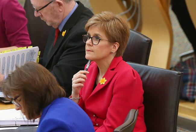 Nicola Sturgeon was giving an update on what was discussed at the Cobra meeting