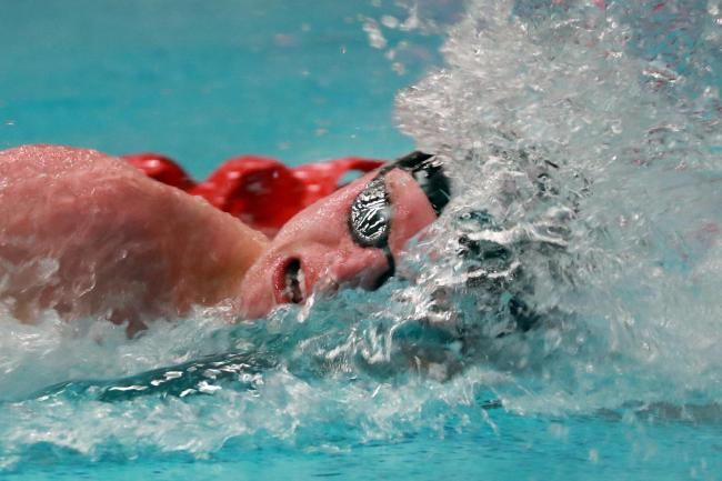 Duncan Scott set another record in the freestyle 50m skins dash