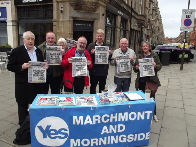 Yes Marchmont and Morningside warned that campaigning during the coronavirus crisis could be counterproductive to the Yes cause