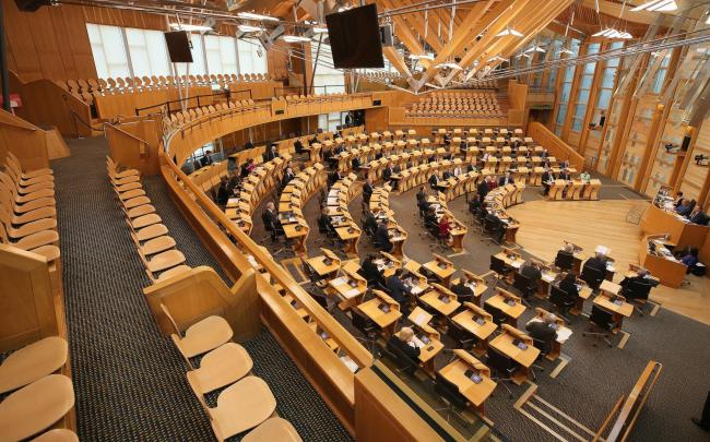 MSPs should lead by example and keep their distance both inside and outside the chamber