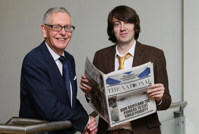 National editor Callum Baird, right, with Sunday National editor Richard Walker